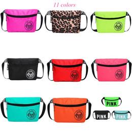 Wholesale Baseball Mini - Pink Fanny Pack 11 Colors Waist Belt Bag Fashion Beach Travel Bags Waterproof Handbags Purses Mini Outdoor Cosmetic Bag