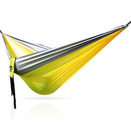 Migliori oscillazioni online-Best Portable Amaca da giardino in stoffa paracadute solida e resistente ultraleggera da 2 persone. Altalena da giardino Hamac Hamak