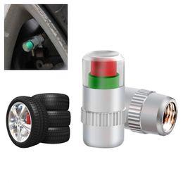 4 PCS-Car Styling Válvula de Pressão Dos Pneus Do Pneu de Carro Tampas de Haste 2.4bar 36PSI Sensor Ar Alerta Aéreo Kit de Ferramentas de Monitoramento de Pressão Dos Pneus de