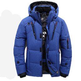 d4fe9e63b3 High Quality 90% White Duck Thick Down Jacket men coat Snow parkas male Warm  Brand Clothing winter Down Jacket Outerwear