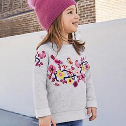 spider man invierno abrigo niños Rebajas Little Maven marca 2018 moda linda manga larga otoño camiseta para niñas con bordado flor o-cuello sudadera ropa 4-10