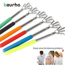 Beurha HOT Pratique Handy Clip de stylo en acier inoxydable Back Scratcher Poche télescopique Kit de massage à gratter Bear Claw Back Scratcher ? partir de fabricateur