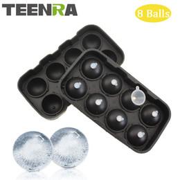 Wholesale Fda Form - Teenra 1pcs 8 Cavity Ice Ball Tray Silicone Ice Cube Ball Frozen Ice Sphere Mold Round Cube Tray Form Silicone Mold Pop Mold