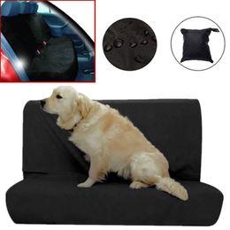 Suministro de mascotas Protector de asiento de coche para mascotas a prueba de agua Cubierta de asiento trasero para coche de perro Cubierta de asiento negro desde fabricantes