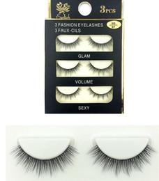 synthetic false eyelashes Australia - 07-wholesale Fashion 3D False faux mink Eyelashes Natural Lash Black Full Strip Fake Lashes Makeup 3D synthetic eyelashes