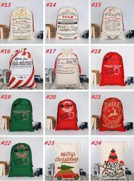 Rosa renna online-Sugao rosa 2018 Sacchetti regalo natalizio Grande borsa di tela pesante biologica Sacco a sacco sacco di Babbo Natale con renne Sacchi di Babbo Natale borse all'ingrosso