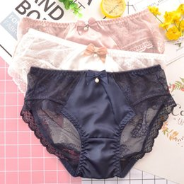 3b19418e6d8 Lovely Cute Sweet Style Girls Panties Sexy Lace Hollow Women Underwear  Exquisite Seamless Transparent Temptation Lady Breifs