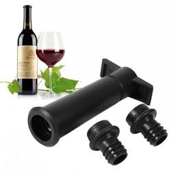 прямые насосы Скидка Портативный черный вино заставка съемный силикагель бутылка плагин легко чистить силиконовые вакуумный насос завод прямая продажа 11fn B