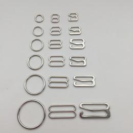 Argentina Varios tamaños de accesorios de sujetador de aleación de plata hebilla anillo de gancho slider 50 sets / lot envío gratis Suministro