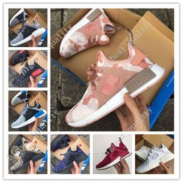 Wholesale Cheap Gold Shoes For Kids - 2017 Cheap New NMD XR1 Boost Duck Camo Navy White Army Green for Top quality MND Men Women Kids Casual Shoes Drop Free Shipping size 36-45