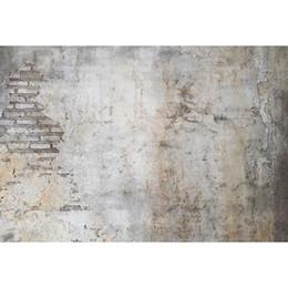 8x8ft foto sullo sfondo Sconti Rotto vecchio muro di mattoni Fondali fotografia Neonato Puntelli doccia Matrimonio Bambini Bambini Photo Studio Ritratto Sfondi