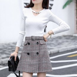 94a63a768b houndstooth skirts Canada - New Arrival Houndstooth Skirt Women 2019  Fashion High Waist Skirts Womens Casual