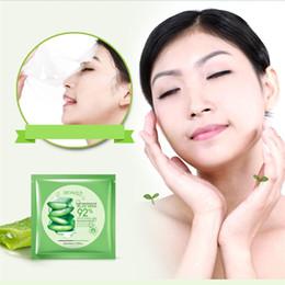Wholesale cosmetic skin treatment - BIOAQUA Natural Aloe Vera Gel Face Mask Moisturizing Oil Control Wrapped Mask Shrink Pores Facial Mask Cosmetic Skin Care free DHL