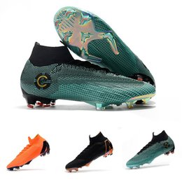 7c919aba7ab Mens CR7 Melhor Elite Ronaldo KJ VI 360 FG Soccer Shoes Football Boot Mercurial  Superfly Cristiano Ronaldo FG Men Socce Shoe Cleats