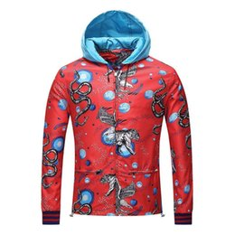 Wholesale Men Strapless - Spring And Autumn New Pattern Jacket Male Fashion Number Printing Even Hat Loose Coat High Archives Leisure Time Goods In Stock A Piece Of R