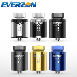 Wholesale Large Diameter - 100% Authentic Digiflavor Drop RDA Vape 24mm Diameter Vaporizer 4 Large Post Holes Tank with BF Squonk Pin from Everzon