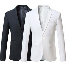 Canada Rouge Bourgogne Marine Bleu Noir Blanc Casual Slim Fit Formelle Veste Mâle Costume Blazer Hommes Plus La Taille 5XL 6XL supplier red black slim suit males Offre