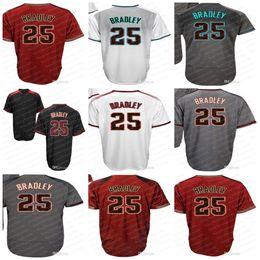 Wholesale womens xxl - Arizona 25 Archie Bradley Baseball Jerseys Black White Grey Red Stitched Mens Womens Kids Toddlers