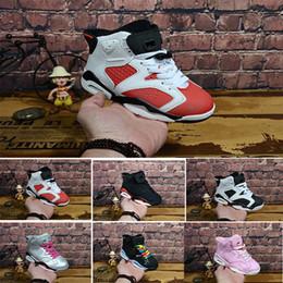 2edb4f8708f601 Nike air max jordan 6 retro Livraison gratuite 2018 enfants classique 6 s  UNC noir bleu blanc infrarouge bas chrome chaussures de basket-ball 6  carmin Oreo ...