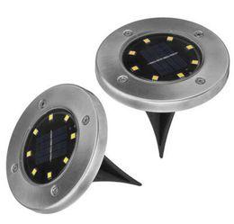 Wholesale Garden Underground - 8 LEDs Solar Powered Ground Light Waterproof Garden Pathway Deck Lights Solar Lamp for Home Yard Driveway Lawn Road Underground Lamps