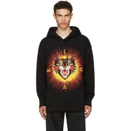 Wholesale Sun Sleeves For Men - luxury brand embroidery tiger hoodies for men autumn letter print love sun hoodies men fashion long sleeve men's hoodies free shipping