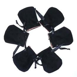 Bracelets de style pandora en Ligne-Le sac de bijoux de velours noir avec le logo s'adapte au style européen Pandora Charms Perles Pendentifs Bracelets et Colliers Bijoux cadeau