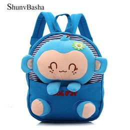 school toy bag for boys Coupons - Monkey toy Children School Bags Kid Bag Children Backpack Removable Doll Lovely Backpacks Children's Gift for Boys and Girls