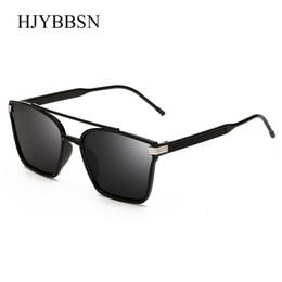 2019 ponte do gato HJYBBSN Design Clássico dos homens Óculos De Sol Quadrado Do Vintage Olho de Gato Duplo Pontes das Mulheres Óculos Unisex óculos de Sol UV400 desconto ponte do gato