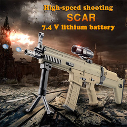 Wholesale Real Guns - Scar serves the water bomb,electric continuous launch, outdoor real CS versus assault rifle, children's toy gun