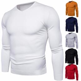 18fe079ad882 2018 schön pullover männer Nizza Herbst Winter Männer V-ausschnitt Pullover  Mode Slim Fit Einfarbig