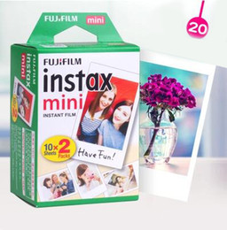 Wholesale Fuji Instax Mini 7s - Fujifilm Instax Mini Film White Edge 20 Sheets Packs Photo Paper for Fuji Instax mini 8 7s 25 50 90 with Package