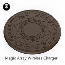 Vendre huawei en Ligne-Hot vente mignon cool élément secondaire Anime Magic array Universal Qi Standard 5W 10W chargeur sans fil pour iphone android Samsung Huawei Xi