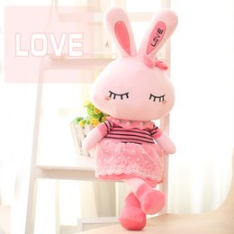 Wholesale love doll sizes - Love Rabbit Plush Toy Doll Lovely & Cute Great Baby Brithday Gift 45CM 65CM 95CM 3 sizes pink color