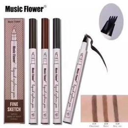 Nouveau maquillage Musique Fleur Liquide Sourcil Stylo Musique Fleur Sourcils Enhancer 3 Couleurs Double Tête Sourcils Enhancer Imperméable À L'eau DHL Livraison Gratuite ? partir de fabricateur