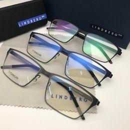c6f8b1a19a646 Lindberg 9889 lunettes cadre lunettes de vue vintage lunettes de vue  prescription il n y a pas de vis style design hommes femmes marque cadre de  lunettes