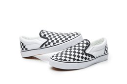 Wholesale Red Gingham Cotton Fabric - Slacker shoes, black and white lattices, men and women, canvas shoes, men's shoes, and fashion shoes