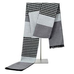 afb9d08e0d7 Haute Qualité Mode Hommes Casual Écharpe Femmes Écharpe Hiver Chaud  Houndstooth bandana Foulard foulard