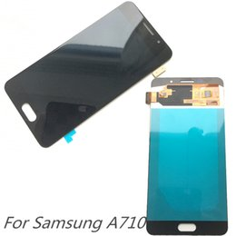 Wholesale Nice Display - Nice AMOLED LCD Display 100% Tested Working Touch Screen Assembly For Samsung Galaxy A7 A710 A710F DHL logistics