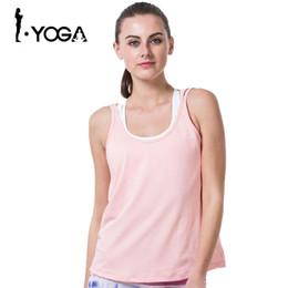Wholesale Mesh Gym Tank - Sexy Fitness Women Yoga Shirt Breathable Vest Hollow Mesh Fitness Gym Tank Top Tights Running Quick Dry Sports Yoga Shirt B002