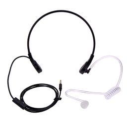 Hals-headset online-3.5mm Throat MIC Headset Covert Akustikrohr FBI Kopfhörer für iPhone Android