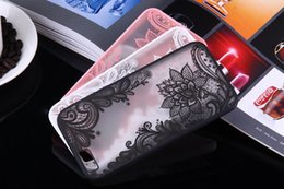 Wholesale Vintage Flower Iphone Cases - Lace Flower Mandala Vintage Case For iPhone X 6 5S Fashion Full edge Protection Acrylic Back Cover For iphone 7 8 plus