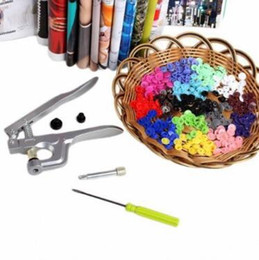 Wholesale buttons for crafts - Fastener Plastic Snap Pliers Buttons Press Pliers with Screwdriver for T3 T5 T8 Kam Resin Button DIY Craft Sewing Tools CCA9782 200pcs