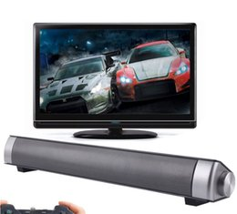 Wholesale usb computer sound bar - LP-08 3D Sound Bar Wireless Bluetooth Speaker With Double 5W Bass Surround Sound Speaker Support TF Card Calls Function DHL Free