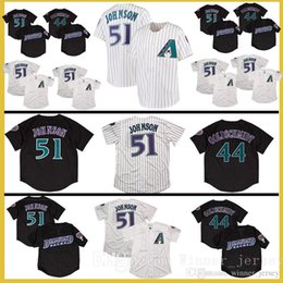 Wholesale black paul goldschmidt jersey - #51 Randy Johnson jersey #44 Paul Goldschmidt jerseys 100% Stitched Fast Free Shipping High-quality Baseball Jresey
