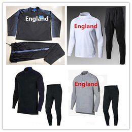 Wholesale Rooney Football - ENGLAND tracksuit 2018 World Cup soccer jacket ROONEY SWEATER soccer chandal football tracksuit adult training suit skinny pants Sports