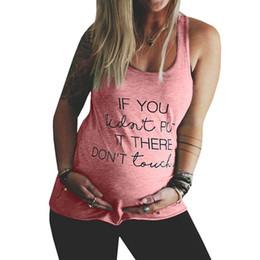 a9825b1d0cc funny tank tops Rebajas Las mujeres más el tamaño de verano camiseta  embarazada Letra de la