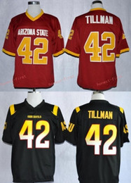 maroon shorts Coupons - 1997 Rose Bowl Arizona State Sun Devis (ASU) Pat Tillman 42 College Football Jerseys Maroon Stitched Shirts Mens