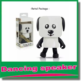 Wholesale Bluetooth Speakers For Kids - Mini Super Cut Smart Dancing Robot Dog Bluetooth speaker Multi portable Bluetooth Speakers New years Christmas Gift For Child Kids OM-O5