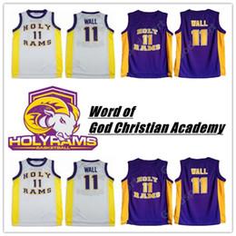 christliche wand Rabatt Wort Gottes Christian Academy genäht 11 John Wall Stitched Stickerei Swingman Trikots Jersey Shirts billig ganze Sport Basketball HOT