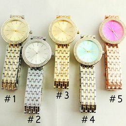 Wholesale Digital Watches For Girls - Ultra thin rose gold woman diamond flower watches 2017 brand luxury nurse ladies dresses female Folding buckle wristwatch gifts for girls